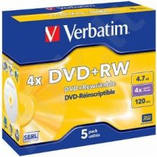 DVD+RW Verbatim [ jewel case 5 | 4.7GB | 4x ]