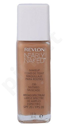 Revlon Nearly Naked pagrindas SPF20, kosmetika moterims, 30ml, (230 Nutmeg)