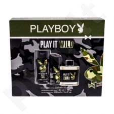 Playboy Play It Wild rinkinys vyrams, (EDT 100 ml + dušo želė 250 ml + dezodorantas 150 ml)
