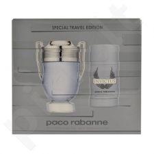 Paco Rabanne Invictus rinkinys vyrams, (EDT 100ml + 75ml pieštukinis dezodorantas)