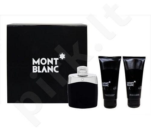 Montblanc Legend, rinkinys tualetinis vanduo vyrams, (EDT 100ml + 100ml losjonas po skutimosi + 100ml dušo želė)