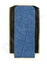 15-RG universalus dėklas 3 Ryg tamsiai mėlynas croco