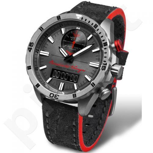 """Vyriškas laikrodis Vostok-Europe """"Rally Timer by Benediktas Vanagas. Titanium edition"""" - Limituota serija"""