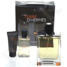 Hermes (EDT 100 + 12.5 ml Eau de toilette spray + 40 ml balzamas po skutimosi) Terre D Hermes, rinkinys vyrams