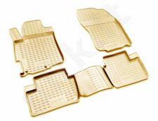 Guminiai kilimėliai 3D MITSUBISHI Lancer X 2007-2017, 4 pcs. /L48034B /beige