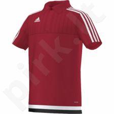 Marškinėliai futbolui polo Adidas Tiro 15 Junior M64065