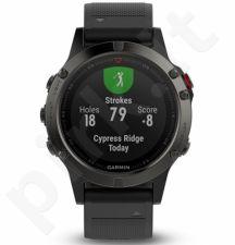 Vyriškas laikrodis Garmin Fenix 5 - Slate grey with black band