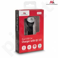 Maclean MCE157 Car charger max4,8A 2xUSB Qualcomm QC QC 3.0 plus 1,5m silver