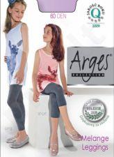 Tamprės mergaitėms 60 denų storio MELANGE (trumpos, žemiau kelio) džinso