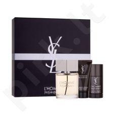 Yves Saint Laurent L Homme rinkinys vyrams, (EDT 100 ml + dušo želė 50 ml + pieštukinis dezodorantas 75 ml)
