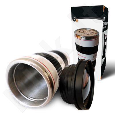 Termopuodelis - fotoaparato objektyvas