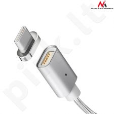Maclean MCE178 Metal magnetic data cable 1m USB Type-C Quick&Fast Charge silver
