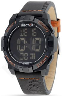 Laikrodis SECTOR   Street Digital 1945 Gray Dial Black Str