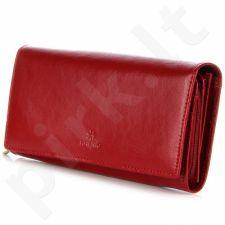 KRENIG Trendy 12015 - piniginė odinė moterims raudona