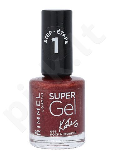 Rimmel London Super nagų lakas, kosmetika moterims, 12ml, (044 Rock N Sparkle)