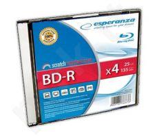 BluRay BD-R ESPERANZA [ slim jewel case | 25GB | 4x ]