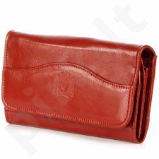 P141 raudona odinė piniginė moterims
