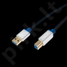 LOGILINK - Premium USB 3.0 Connection Cable, USB A Male to USB B Male, 1.5m