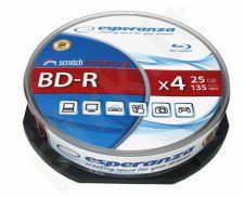 BluRay BD-R ESPERANZA [ Cake Box 10 | 25GB | 4x ]