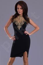 Emamoda suknelė - juoda-auksinė 6404-8