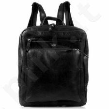 DAAG FUNKY GO! 20 juoda kuprinė odinė nešiojamam kompiuteriui unisex