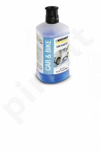 Automobilinis šampūnas Karcher 3 viename, Plug 'n' Clean, 1L