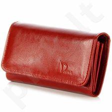 DAN-A P136 raudona piniginė odinis moterims