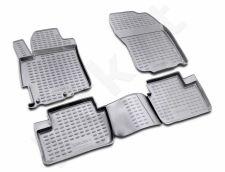 Guminiai kilimėliai 3D MITSUBISHI Lancer X 2007-2017, 4 pcs. /L48034G /gray