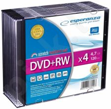 DVD+RW ESPERANZA [ slim jewel case 10 | 4.7GB | 4x ]