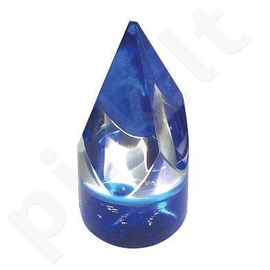Piramidės formos markeris ruletei mėlynas