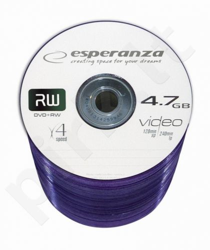 DVD+RW ESPERANZA [ spindle 100 | 4.7GB | 4x ]
