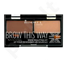 Rimmel London Brow This Way Scuplting Kit, kosmetika moterims, 2,4g, (003 Dark Brown)