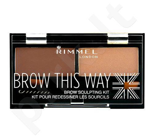 Rimmel London Brow This Way Scuplting Kit, kosmetika moterims, 2,4g, (003 Dark Brown)