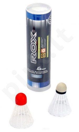 Badmintono skrajukės Rox, 6 vnt. (3 lengvos, 3 sunkios)