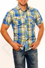 3326-1 Vyriški marškiniai  - mėlynos spalvos