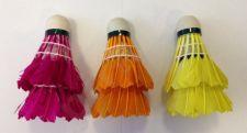 Badmintono skrajukės iš plunksnų Rox, spalvotos, 6 vnt.