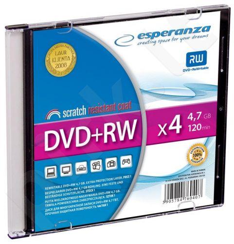 DVD+RW ESPERANZA [ slim jewel case 1 | 4.7GB | 4x ]