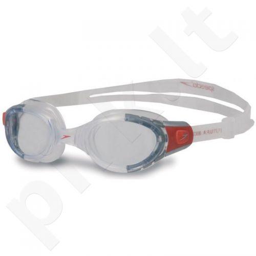 Plaukimo akiniai SPEEDO Futura BioFUSE balta-raudona