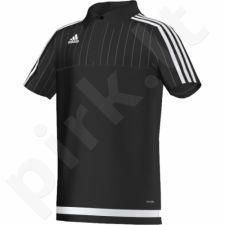 Marškinėliai futbolui polo Adidas Tiro 15 Junior S22446
