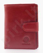 KRENIG Classic 12089 - Ekskliuzivinė raudona odinė piniginė moterims