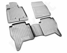Guminiai kilimėliai 3D MITSUBISHI Pajero IV 2006->, 4 pcs. /L48049G /gray