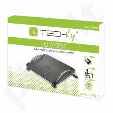 Kojų atrama Techly ergonomiška, juoda