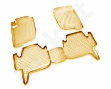 Guminiai kilimėliai 3D MITSUBISHI Pajero Sport 2008-2012, 4 pcs. /L48055B /beige