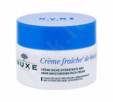 NUXE Creme Fraiche de Beauté, 48HR Moisturising Rich Cream, dieninis kremas moterims, 50ml