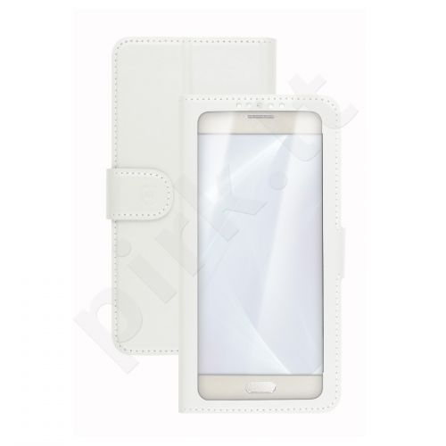 Universalus atverčiamas dėklas Unica View XL dydis 4.5-5.0 Celly baltas