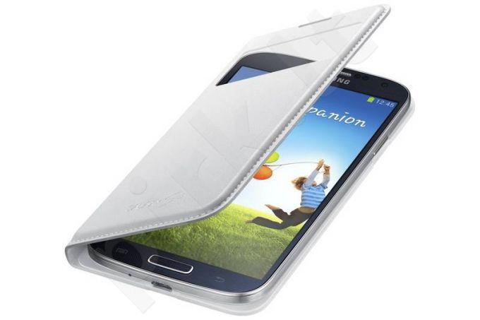 Samsung Galaxy S4 S View dėklas baltas