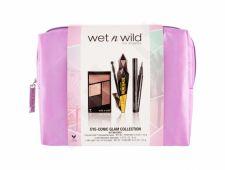 Wet n Wild Eye-Conic Glam Collection, Color Icon, rinkinys akių šešėliai moterims, (akių šešėliai Kit 4,5 g + Lash Renegade 8 ml Brazen Black + akių kontūrų priemonė ProLine 0,5 g Black + krepšys), (Silent Treatment)