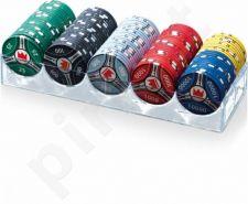 Pokerio žetonų rinkinys Juego Ceramic 100, su vertėmis