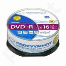 DVD+R ESPERANZA [ cake box 25 | 4.7GB | 16x ]