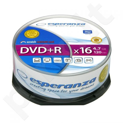 DVD+R ESPERANZA [ cake box 25 | 4.7GB | 16x ]